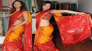 Uppada Pattu Peach Colour Saree | Snehita : TV5 News - TV5NEWSCHANNEL
