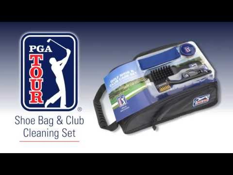 PGA TOUR Shoe Bag With Club Cleaning Set - PGAT39