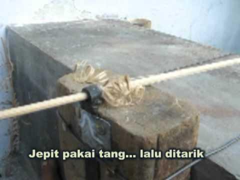 CARA MUDAH BUAT BATANG BAMBU BULAT 2