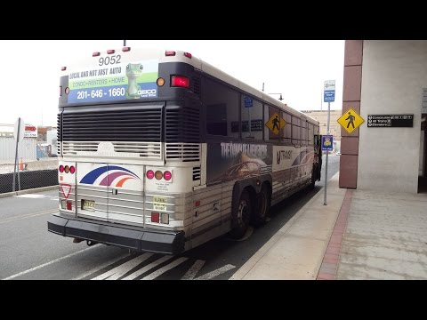NJT MCI D4500CL #9052 on the 124 to Secaucus Junction (Inside) in HD