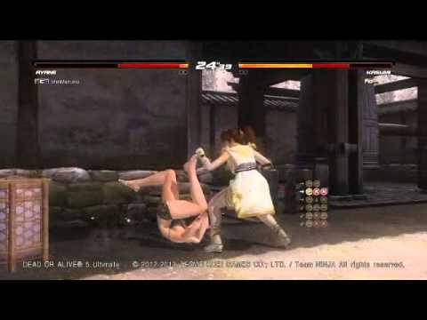 DOA5U AYANE vs JANN LEE 2014-04-20