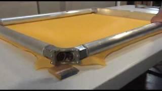 flatten a newman roller frame youtube