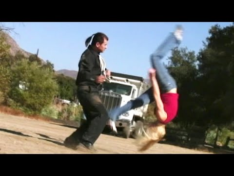 2 Gymnast Girls vs 1 Martial Arts Guy | Action Movie Scene - صوت وصوره لايف