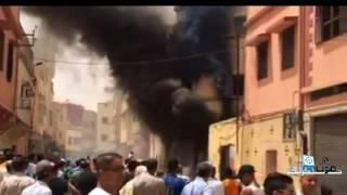 فيديو .. الحريق الذي وقع اليوم بخريبكة