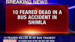 10 feared dead in a bus accident in Shimla - NEWSXLIVE