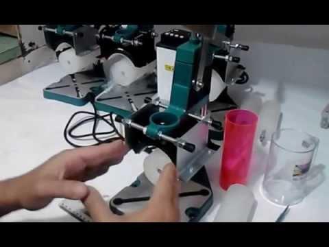 Regulagem da ferramenta de gravação da nova máquina de gravar, estampar, personalizar, copos e canec
