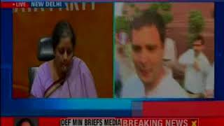 Defense Minister Nirmala Sitharaman slams Congress for engaging in communal politics - NEWSXLIVE