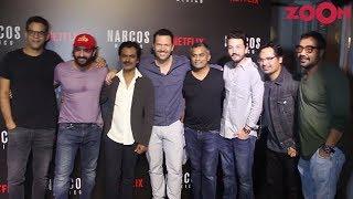 Saif Ali Khan, Nawazuddin Siddiqui & Anurag Kashyap with Narcos Mexico Cast - ZOOMDEKHO