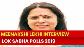 Meenakshi Lekhi, BJP MP Exclusive Interview on Lok Sabha Election 2019, New Delhi - NEWSXLIVE