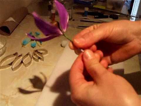 Jak zrobic lilia fantazyjna z lukru plastycznego odc.2/How to make fantasy lily part.2
