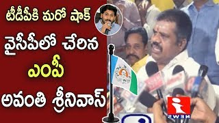 TDP Anakapalli MP Avanthi Srinivas  Join To YSRCP | Chandrababu Naidu | Ys Jagan  iNews - INEWS