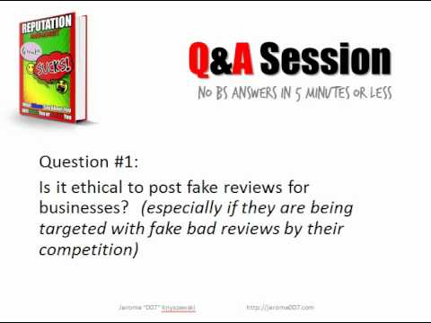 Jerome Knyszewski Q&A 1 - Is it ethical to post fake Reviews?