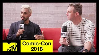 'Venom' Star Riz Ahmed & Ruben Fleischer on Tom Hardy & Anti-Heroes  | Comic-Con 2018 | MTV - MTV