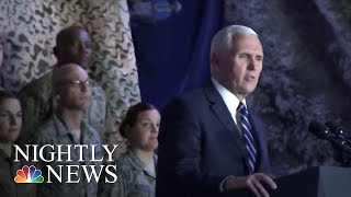 VP Pence talks shutdown during Middle East trip | NBC Nightly News - NBCNEWS