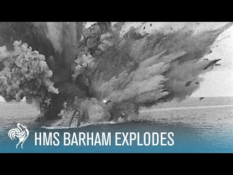 HMS Barham Explodes and Sinks, 1941 [Full Resolution]
