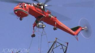 High Voltage Tower Construction 2 timelapse 720p HD