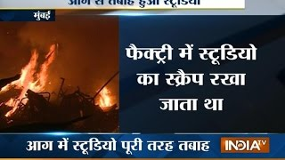 Fire engulfs Ekta Kapoor's studio - INDIATV