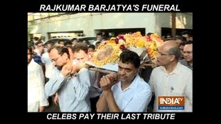 Rajkumar Barjatya funeral: Swara Bhasker, Bhagyashree and others pay last respect - INDIATV