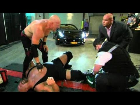 Raw: Big Show's leg is crushed beneath Alberto Del Rio's car