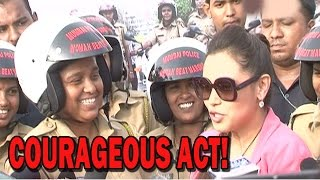Rani Mukerji promoting 'Mardaani' movie with Lady Police officers! | Bollywood News