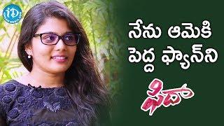 I am Big Fan Of Sai Pallavi - Sharanya Pradeep    #Fidaa    Talking Movies With iDream - IDREAMMOVIES