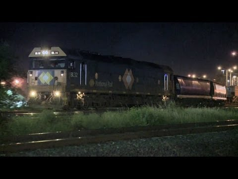 Grain Train in Melbourne at Night - PoathTV Australian Railways, Railroads &amp; Trains