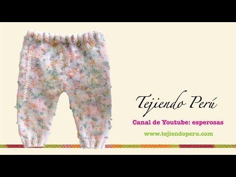 Pantalón para bebé tejido en dos agujas o palitos (Parte 1)