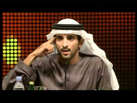 Sheikh Hamdan bin Mohammed AlMaktoum recites his latest poem at Dubai Poetry Forum 2011