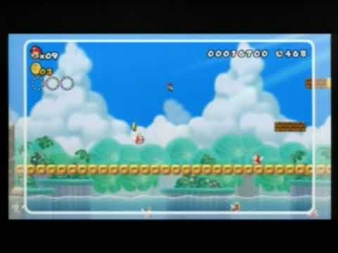 New Super Mario Bros. Wii - 4-2 Endless 1Ups - Hint Video