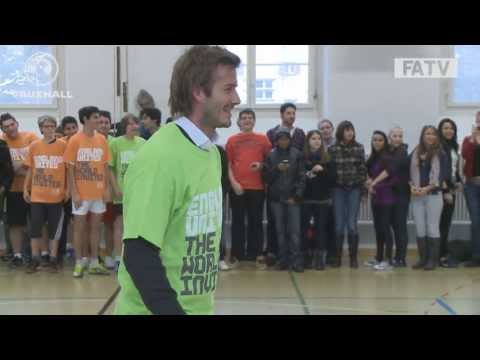 FUNNY: David Beckham gets nutmegged by a kid