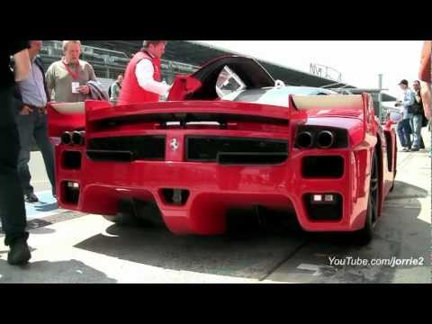 2x Ferrari FXX LOUD sounds!! Lovely Downshifts! - 1080p HD