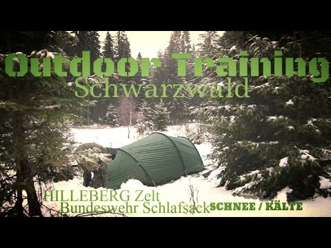 WINTER CAMPING MIT TUNNELZELT