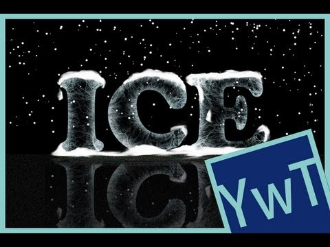 Photoshop Tutorial: Ice Text Effekt
