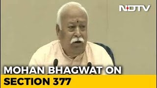 """LGBTQ Community Part Of Society"": Mohan Bhagwat Keeps Up With Times - NDTV"