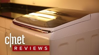 Samsung WA54M8750AW washing machine review - CNETTV