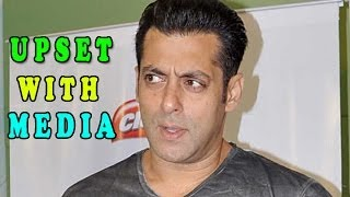 Salman Khan got upset on a TV reporter