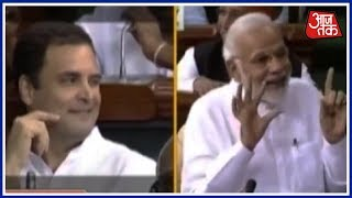 Pappu, Stare-down, Hugplomacy,  Poor Man Modi And A Wink | #NoConfidenceMotion - AAJTAKTV