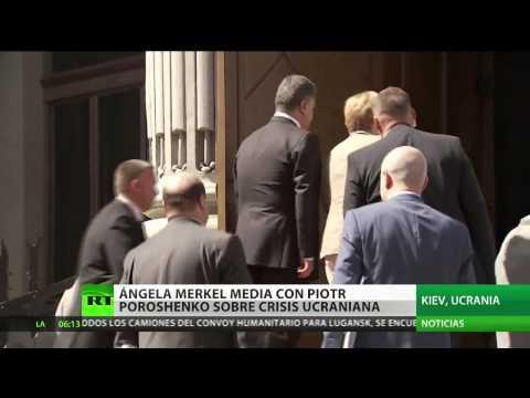 Ángela Merkel se ha reunido con Piotr Poroshenko en Kiev