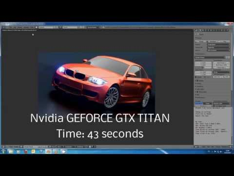 Blender Cycles Titan Benchmark