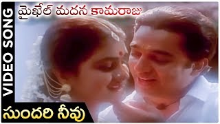 Michael Madana Kama Raju Movie | Sundari Neevu Video Song | Kamal Haasan | Urvashi | Ilayaraja - RAJSHRITELUGU