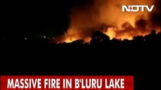 In Bengaluru, 5,000 Armymen Fought Raging Fire At Bellandur Lake - NDTVINDIA
