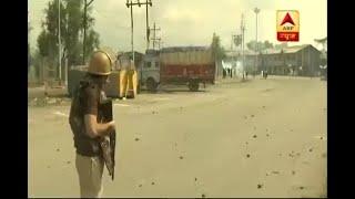 Massive stone pelting in Srinagar after Eid prayers - ABPNEWSTV