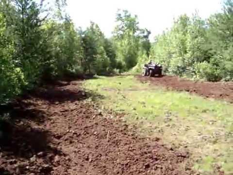 DEER FOOD PLOTTING WITH HOMEMADE ATV PLOW