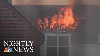 Massive Inferno Erupts At D.C. Senior Living Apartment Complex | NBC Nightly News - NBCNEWS