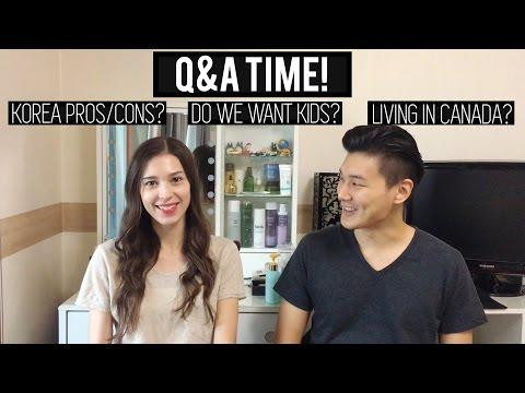 Q&A - Korea Pros & Cons? | Kids? | Living in Canada? 저희에 대한 질문과 답변 (자막 CC)