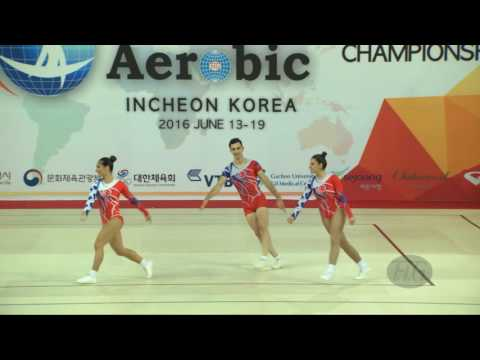 Turkey  (TUR) - 2016 Aerobic Worlds, Incheon (KOR) - Qualifications Trio