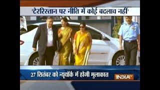 Sushma Swaraj to meet Pak FM in New York, likely to raise Kartarpur Sahib border issue - INDIATV