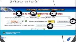 COMO SABER DONDE VOTO? - Padrones electorales 2013 Argentina
