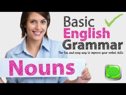 Basic English Grammar -- Noun | English speaking | Spoken English | ESL |Free English Lesson