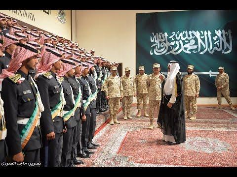 سمو الأمير متعب بن عبدالله يلتقي بخريجي كلية الملك خالد العسكرية بالحرس الوطني ١٤٣٨هـ